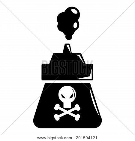 Poison icon. Simple illustration of poison vector icon for web