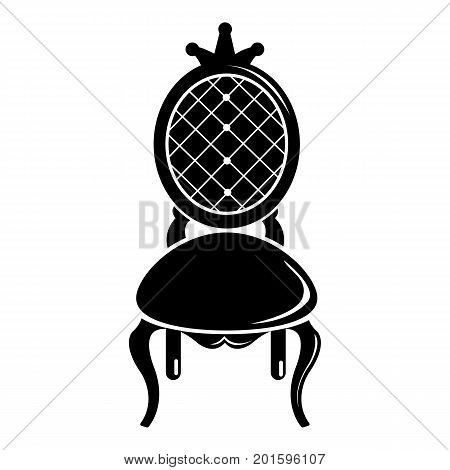 Throne icon. Simple illustration of throne vector icon for web