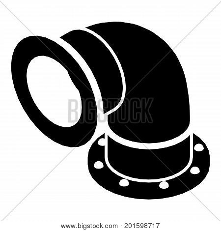 Semicircular pipe icon. Simple illustration of semicircular pipe vector icon for web