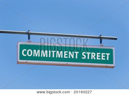 commitment street sign