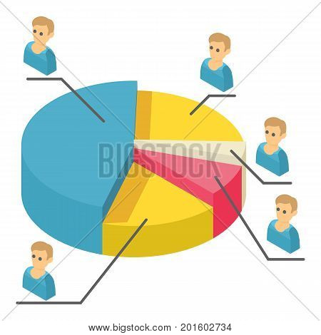 Statistics icon. Isometric illustration of statistics vector icon for web