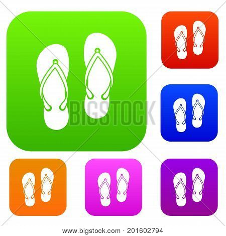 Slates set icon in different colors isolated vector illustration. Premium collection