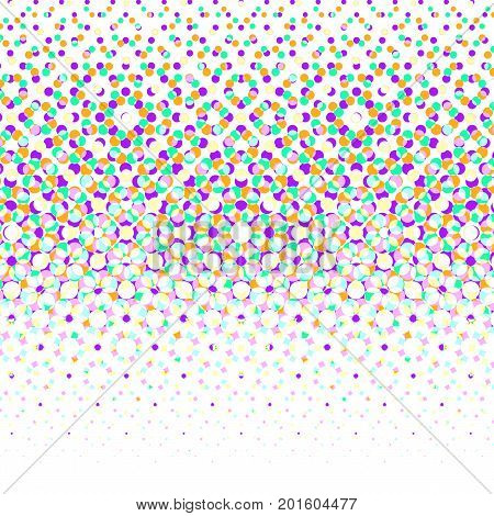 Vector geometric halftone background. Backdrop with circle shapes different color overlaping. Minimalistic texture.