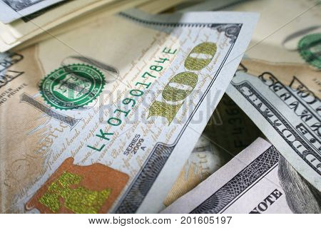 Money Background With Hundreds Close up High Quality
