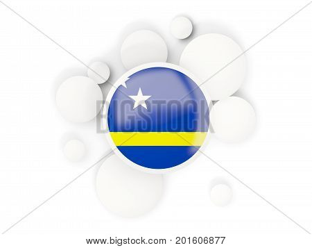 Round Flag Of Curacao With Circles Pattern