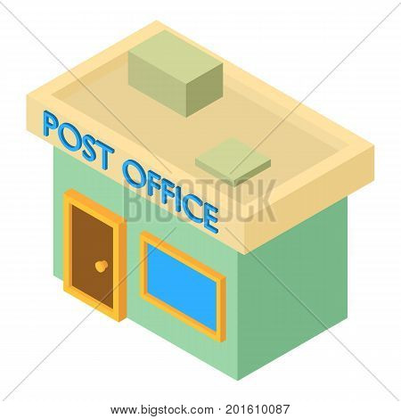 Post office icon. Isometric illustration of post office vector icon for web