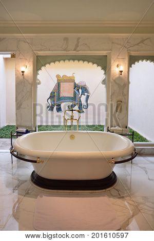 Bathroom At The Oberoi Udaivilas Hotel Suite