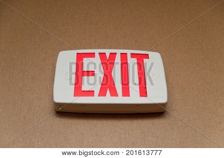 Emergency Exit Sign Close Up