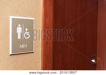 Public Restroom Men Sign And Handicapped