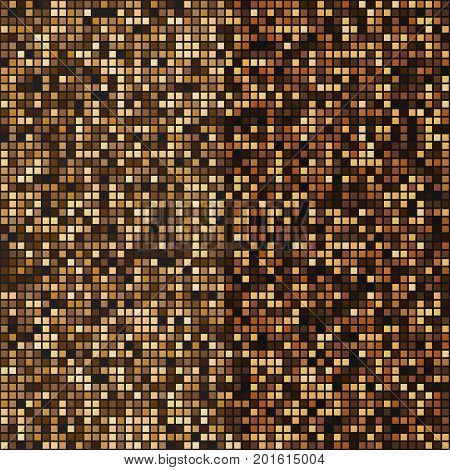Gold mosaic halftone abstract background stock vector