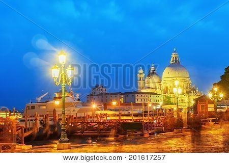 Church Of Santa Maria Della Salute (basilica Of Santa Maria Della Salute), Standing Near The Grand C