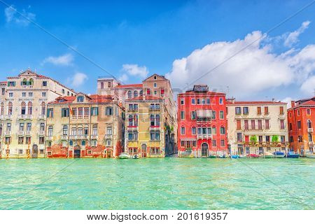 Venice, Italy - May 12, 2017 :views Of The Most Beautiful Canal Of Venice - Grand Canal Water Street