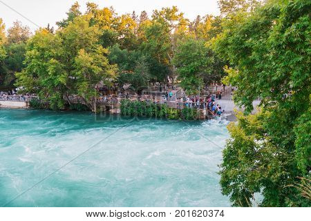 Manavgat Waterfall Near The City Of Manavgat In Turkey In 2017