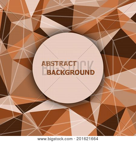 Brown polygon abstract triangle background, stock vector