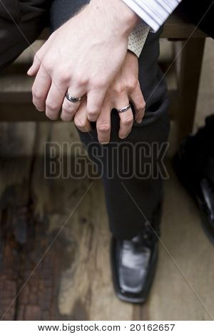 male gay wedding hands