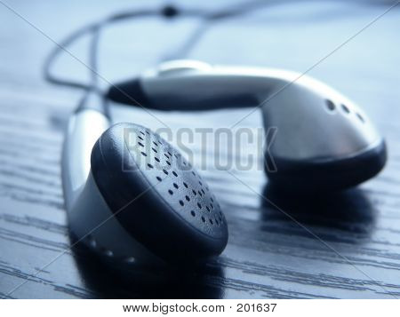 mp3 player headphones poster