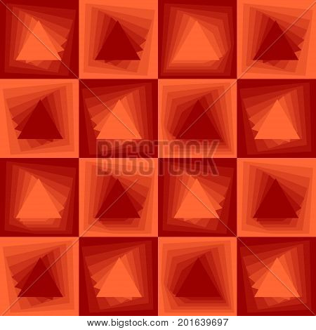 Orange abstract background checker patterns with blending triangle texture vector EPS 10