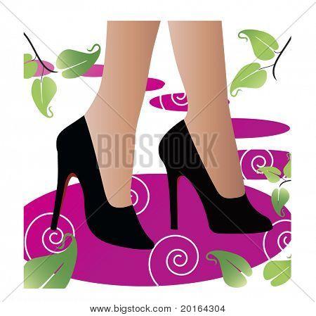 black high-heels
