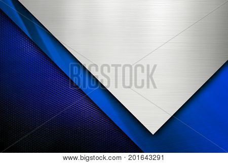 blue metal design background