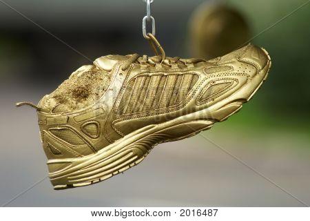 Golden Running Shoes