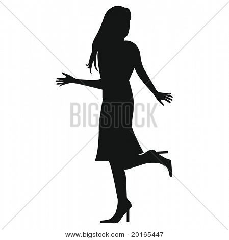 woman silhouette (run walk look)