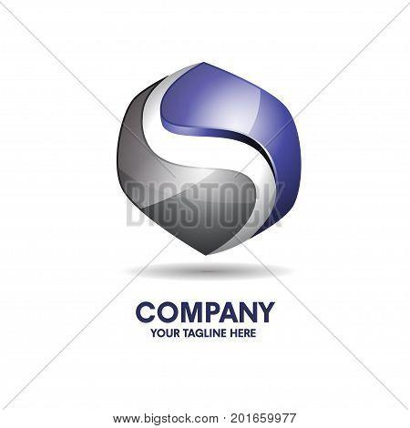 Letter s 3d logo vector illustration template, letter S trend logo vector, creative Letter S letter 3D style logo