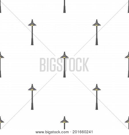 Lamppost with a conic bubble.Lamppost single icon in cartoon style vector symbol stock illustration .