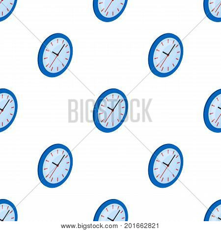 Round wall clock. Office clock single icon in cartoon style Isometric vector symbol stock illustration .