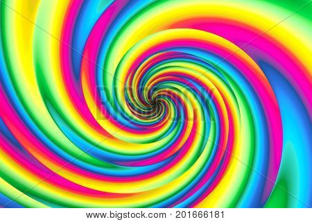 psychedelia abstract background with twist 3d illustration