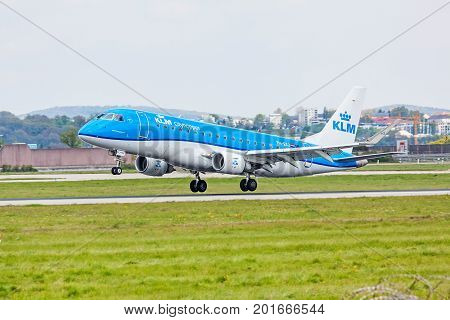 Airplane Offtake / Landing, Airway Klm, Airport Stuttgart, Germany