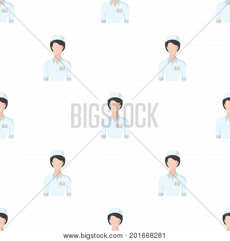 Medical staff in the hospital. Medicine single icon in cartoon style vector symbol stock illustration .