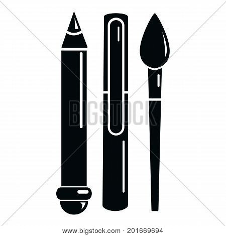 Stationery icon. Simple illustration of stationery vector icon for web