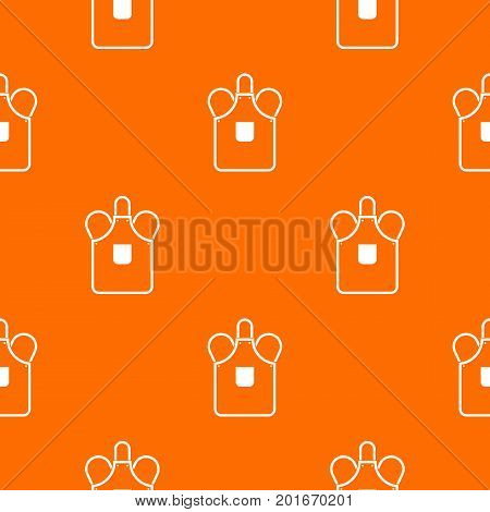 Blacksmiths apron pattern repeat seamless in orange color for any design. Vector geometric illustration