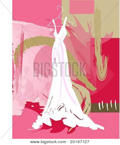 Wedding gown illustration
