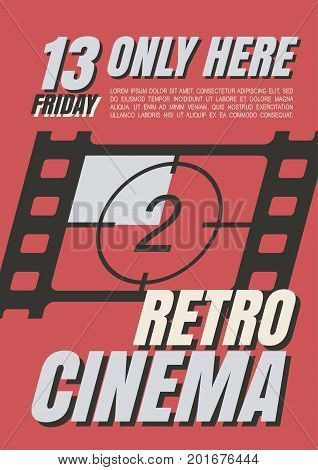 A set of posters for films in retro style. Subjects of images are old movies. Advertising posters on the classics of cinematography. Horror, thrillers, action movies, art-house of old time.