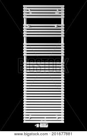Modern White Radiator Towel Rail (clipping Path )