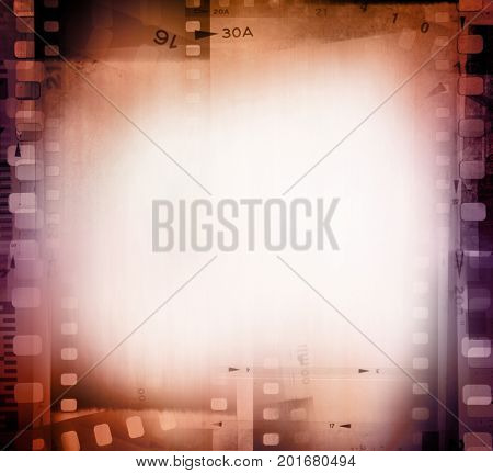 Film negative frames background. a