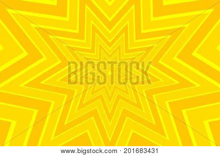 nine pointed star yellow abstract vector pattern