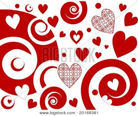funky valentine heart and background