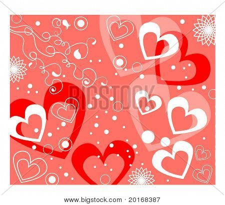 heart background with scribbles
