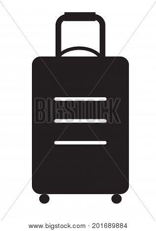 travel bag icon on white background. flat style design. travel bag sign.