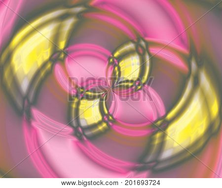 Abstract color swirl Vortices in the center, yellow and pink