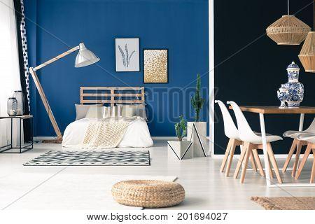 Peaceful Blue Studio Apartment