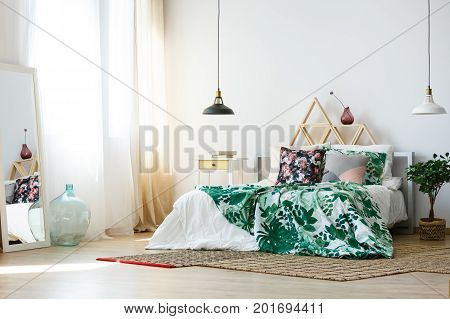 Homely Bedroom With Colorful Accessories