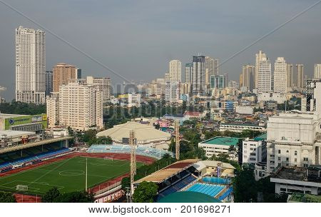 Cityscape Of Metro Manila In Philippines