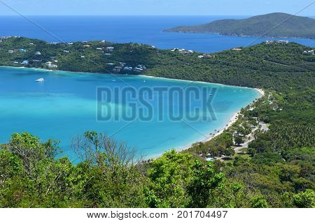 Quiet Magens Bay Beach on St Thomas in the Caribbean