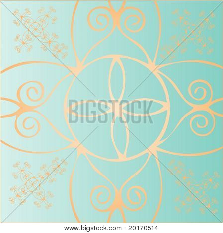 seamless funky celtic like pattern vector
