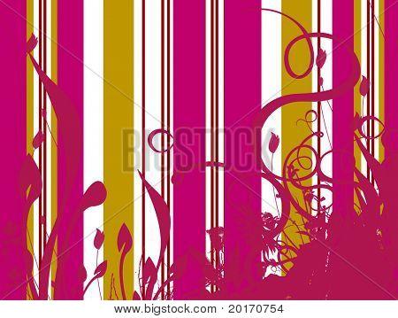 stripe with foliage (flattened)