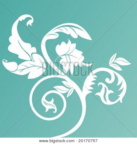 leaves floral vector
