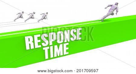 Response Time as a Fast Track To Success 3D Illustration Render